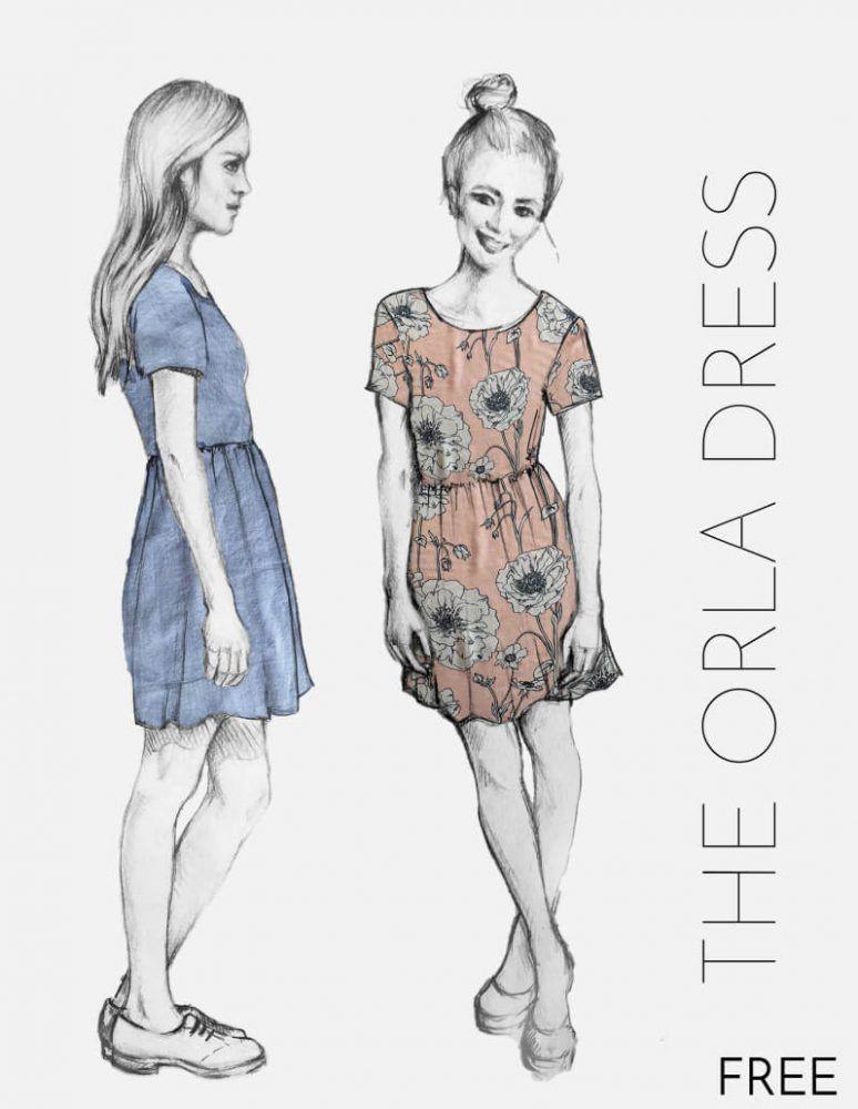 Sommerkleid Damen - Orla-Dress | Freebook Gr. XS - XL | Nähtalente