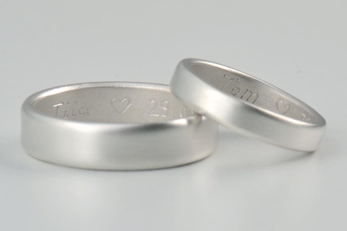 Handmade Silver Wedding Rings