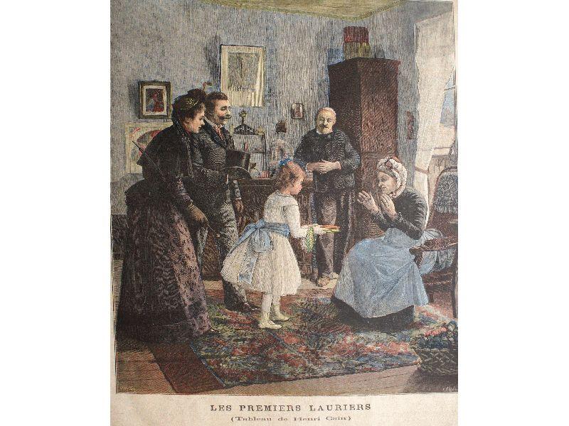 Les premiers lauriers, gravure d'après Henri Cain du Petit Journal de 1891