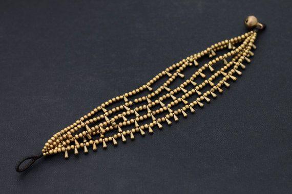 Water Drop Layer Brass Bracelet por XtraVirgin en Etsy