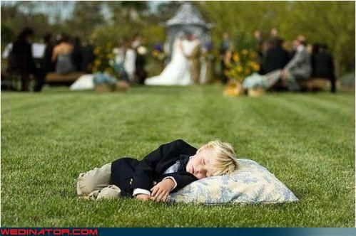 Funny Wedding Photos - Yep, This Kids Got the Right Idea