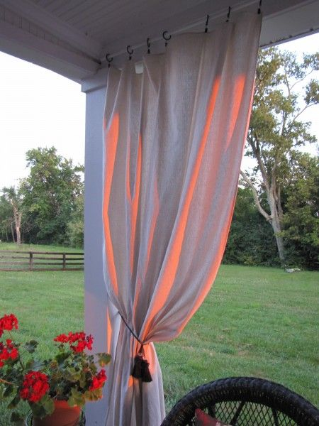 Drop Cloth Curtains For My Patio Home