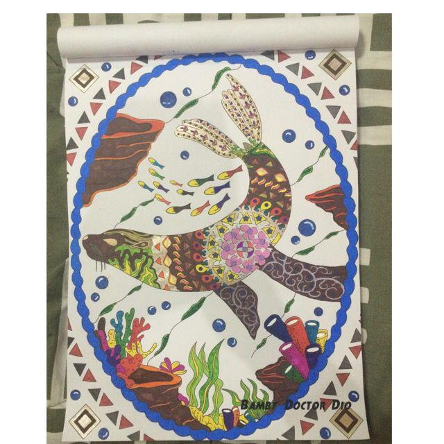 Coloring book: obra atlantika adult coloring book medium: uni-ball ...