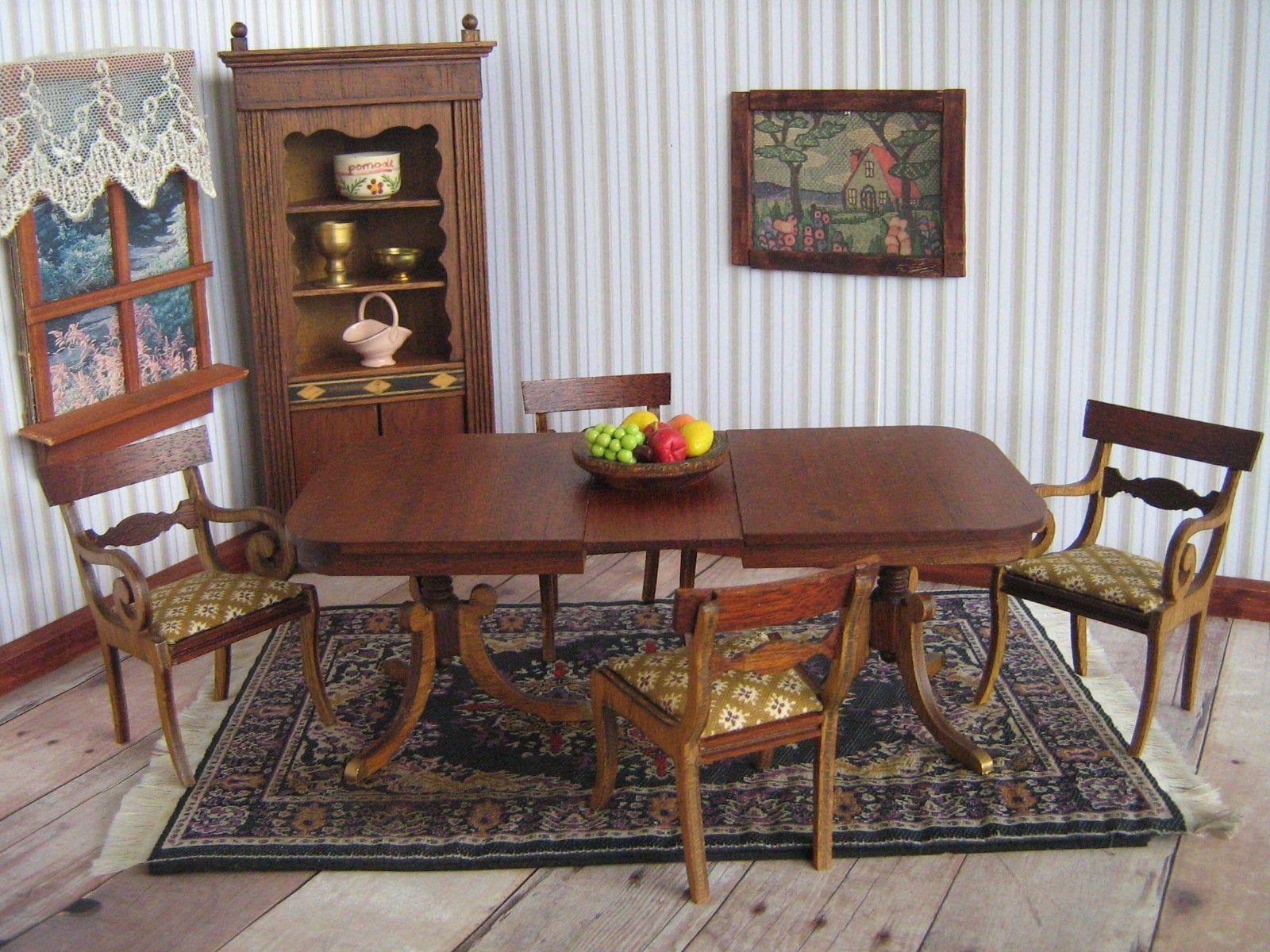 Vintage Dollhouse Furniture Lynnfield Block House Sonia Messer