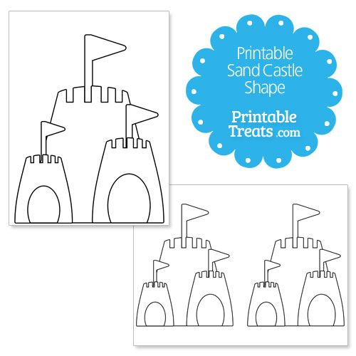 photograph relating to Printable Castle Template referred to as Printable Sand Castle Form Template Clip@rtz / Templatez