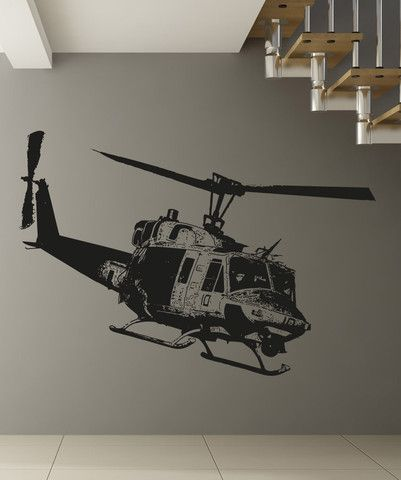 Vinyl Wall Decal Sticker Huey Helicopter #OS_AA1651 | Wall Decals ...