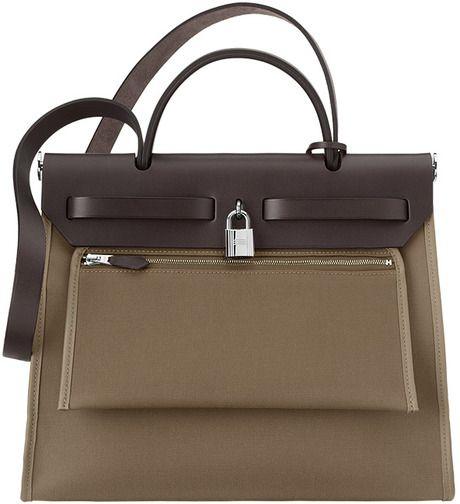 Hermes Etoupe Herbag Zip 31 Bag 2  174a90c87fe83