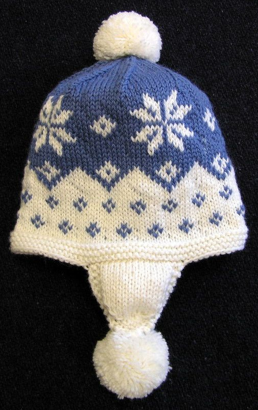 Easy Knitting Pattern-Cascading Snowflake Earflap Hat PDF | Easy ...