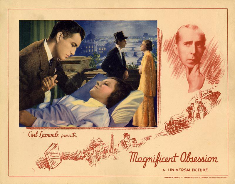 Magnificent Obsession (1935 film) Watching Magnificent Obsession 1935 with Irene Dunne and the