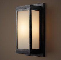 Braxton Sconce Weathered Zinc Exterior Light Fixtures Sconces Sconce Lighting