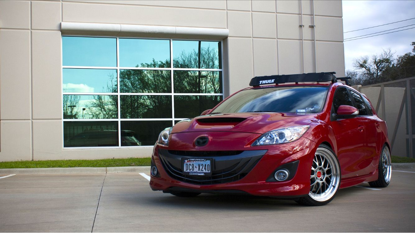 """Mazdaspeed3 OEM roof rack with 44"""" fairing. Privat (made"""