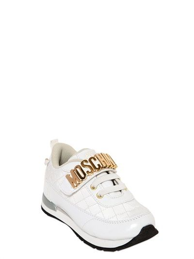 eae391d0a53c MOSCHINO KIDS QUILTED NYLON SNEAKERS