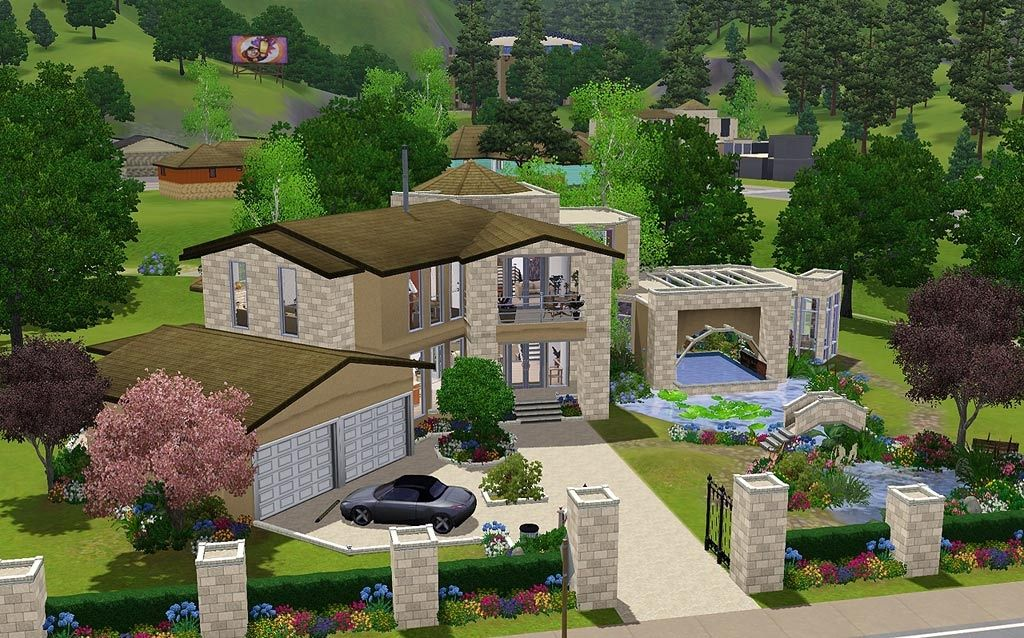 No Doubt This Is An Amazing Sims Home Sims House Sims Landscape Plans