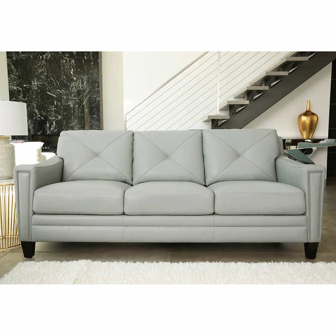 Atmore Top Grain Leather Sofa With Images Top Grain Leather Sofa Leather Sofa Top Grain Leather