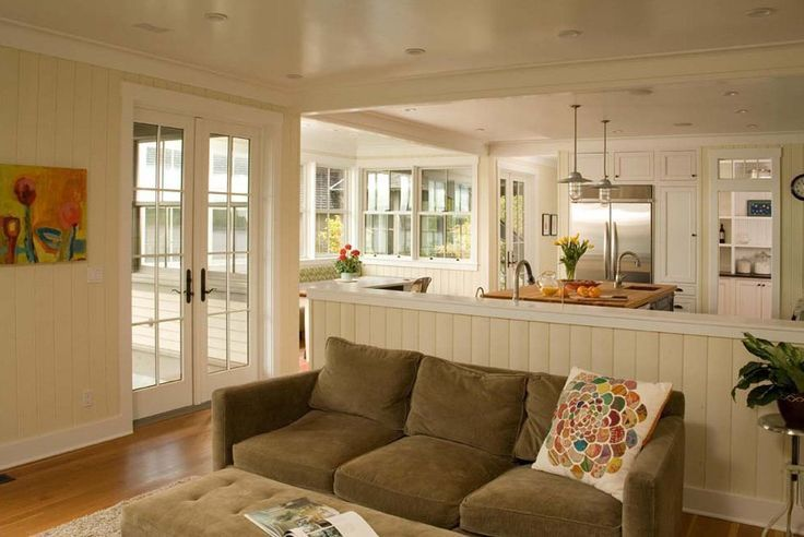 kitchen family room combinations | Nice living room/kitchen combo