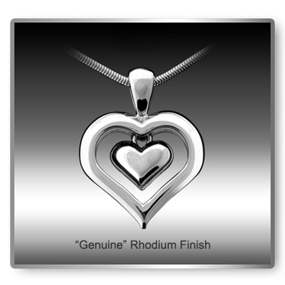 Eternity Heart Rhodium Finish Cremation Necklace in 2020