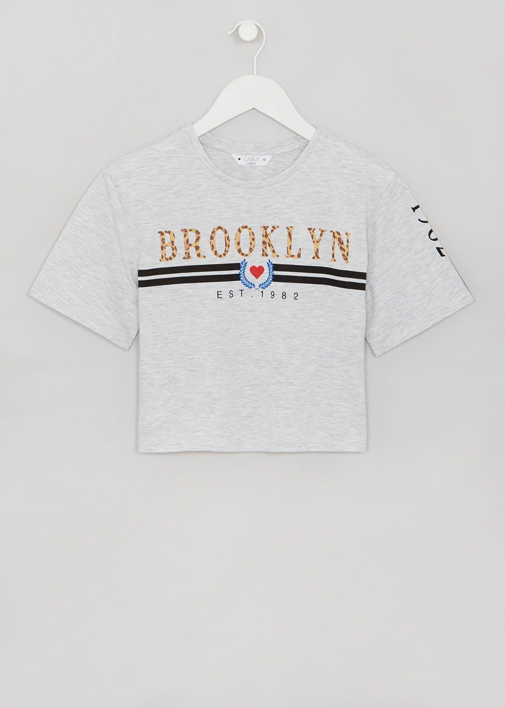 Girls Brooklyn Slogan Cropped T-Shirt (9-16yrs) in 2019  16c0883ea8f