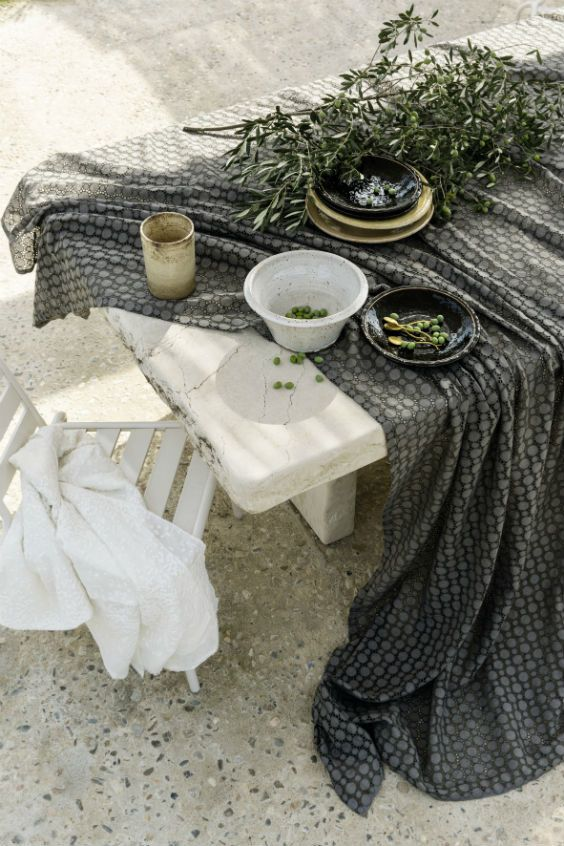 The Amalfia collection has drawn inspiration from these steep hills for its three designs.  #fabrics #tablecloth #elitis #interior #amalfia