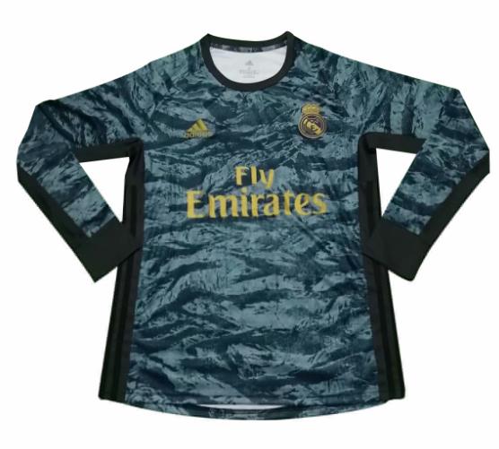 Real Madrid 2019 2020 Goalkeeper Long Sleeved Shirt Soccer Jersey Cheap Long Sleeve Shirts Soccer Jersey Long Sleeve Tshirt Men