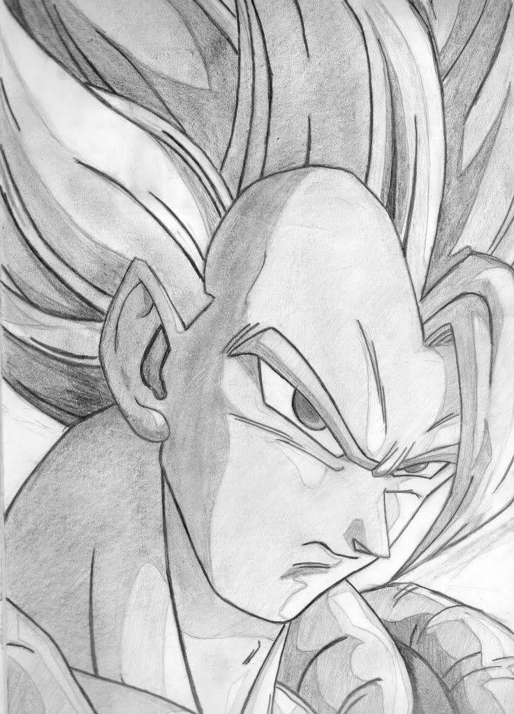 Vegetto Dragon Ball Z Dibujos Goku Dibujo A Lapiz Goku A Lapiz
