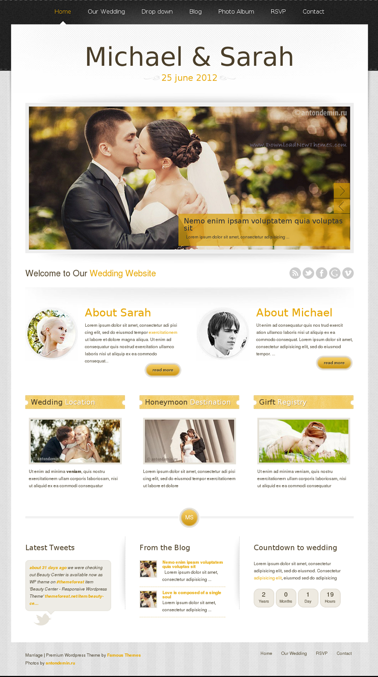 15+ Beautiful #Wedding #Website #Templates | web design | Pinterest ...