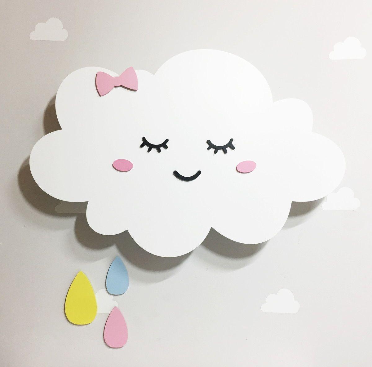 Nuvem Com Luz De Led Com Gotas Decoracao De Nuvens Decoracao