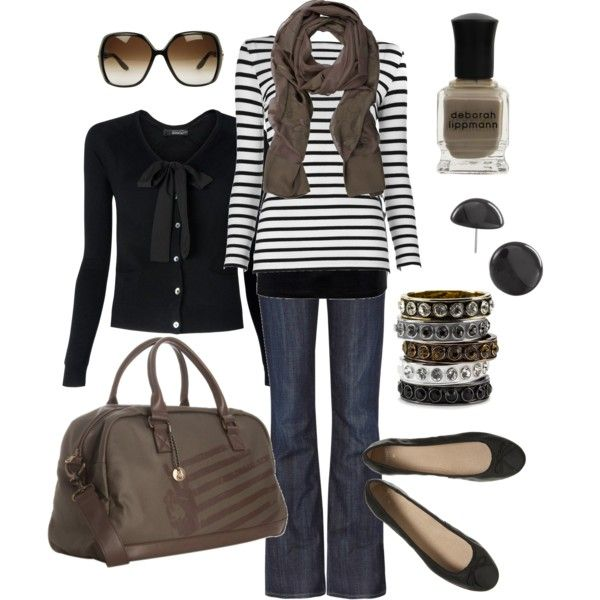 """black and brown"" by htotheb on Polyvore"