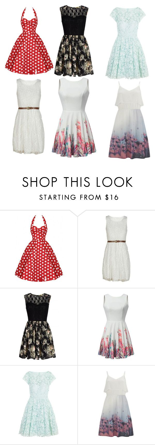 """dresses galore"" by aryannah333 ❤ liked on Polyvore featuring Mela Loves London, ML Monique Lhuillier and Vero Moda"