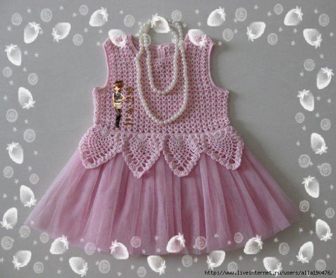 bfe63a0d2 Blusa de croche para menina | Crochet Roupas | Crochet baby clothes ...