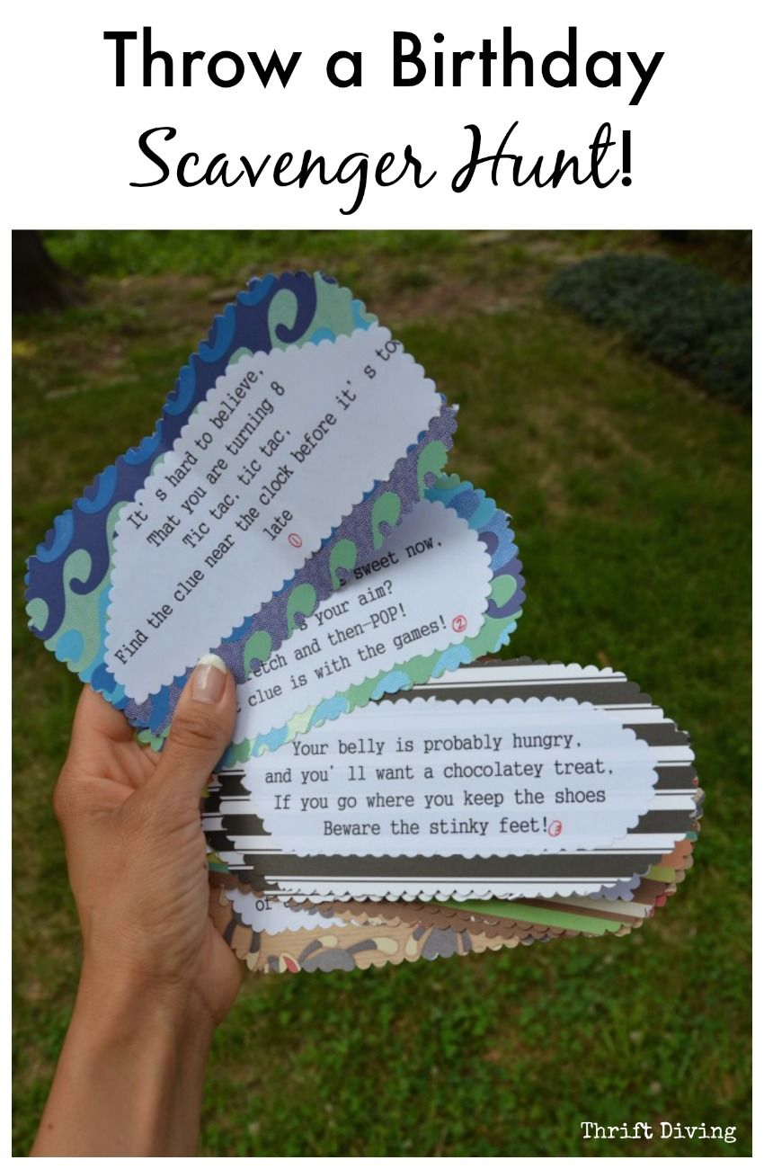 How to Throw a Birthday Card Scavenger Hunt! Birthday