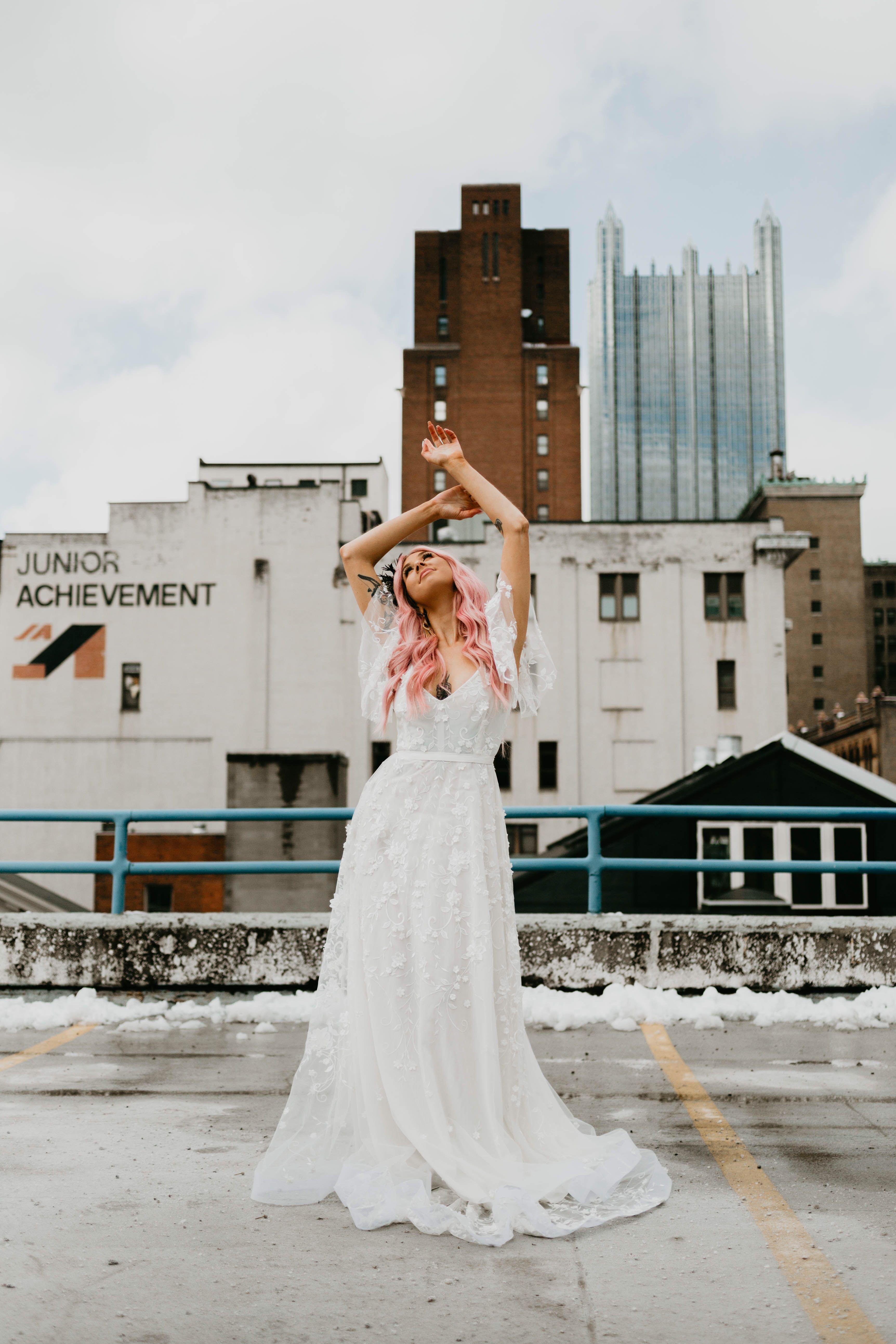 Mariah Treiber Photography Pittsburgh Wedding Photographers Pittsburgh Weddings City Backdrop