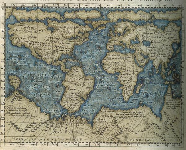 Gerardus Mercatoru0027s 1569 World Map, The First Map That Used The Famous Mercator  Projection.