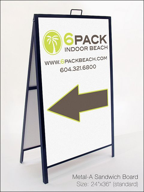 Metal A-Frame Sandwich Board | Sandwich Boards | Pinterest ...