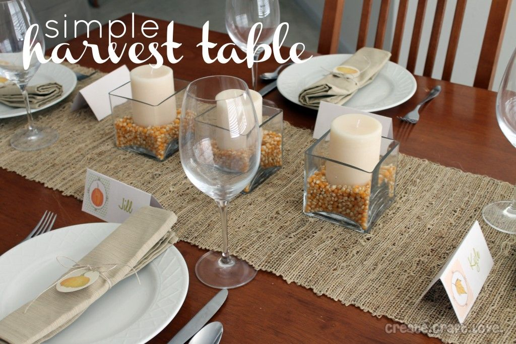 Simple Harvest Table | Create Craft Love