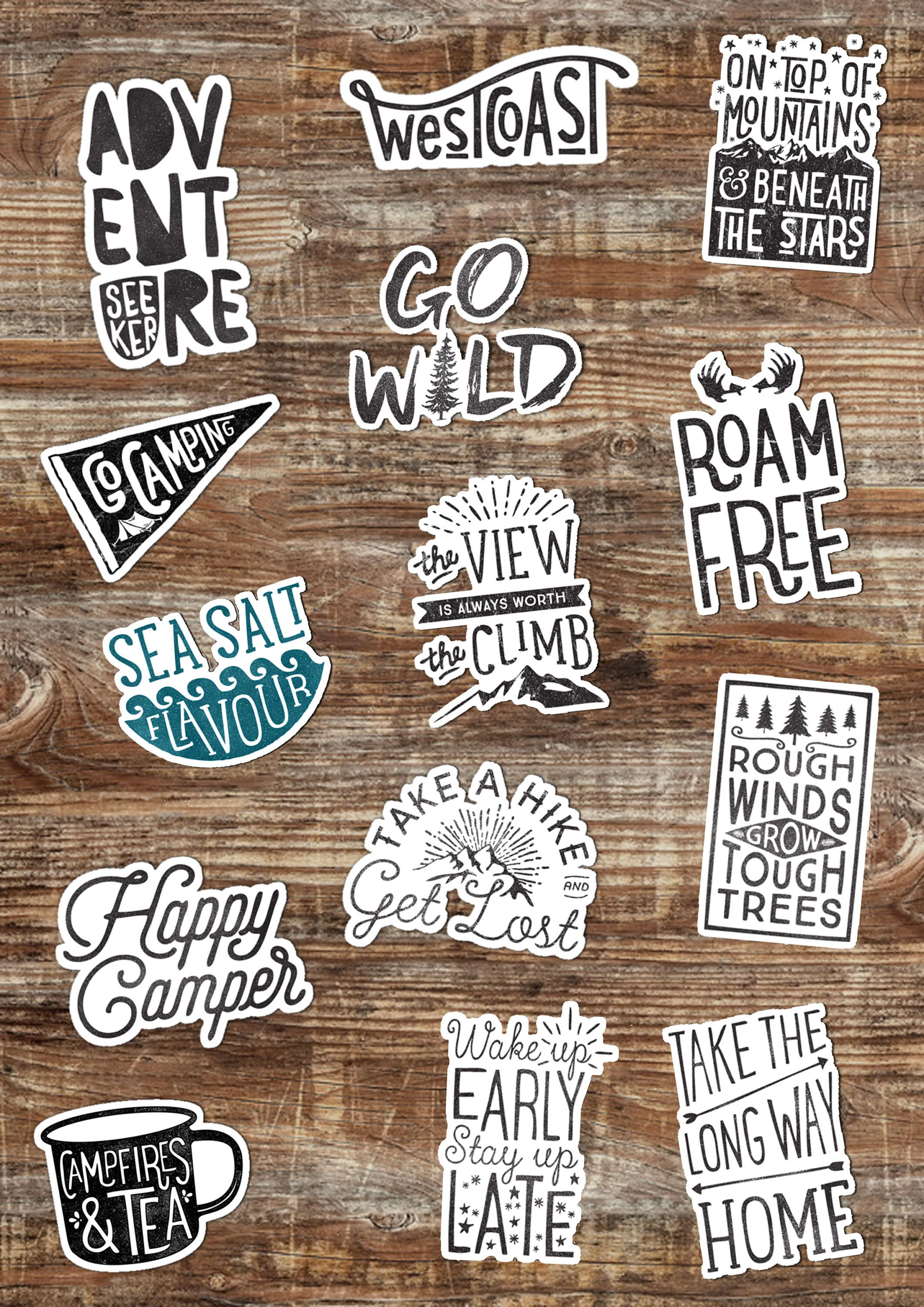 Mix match choice of 3 adventure stickers hydro flask stickers outdoors