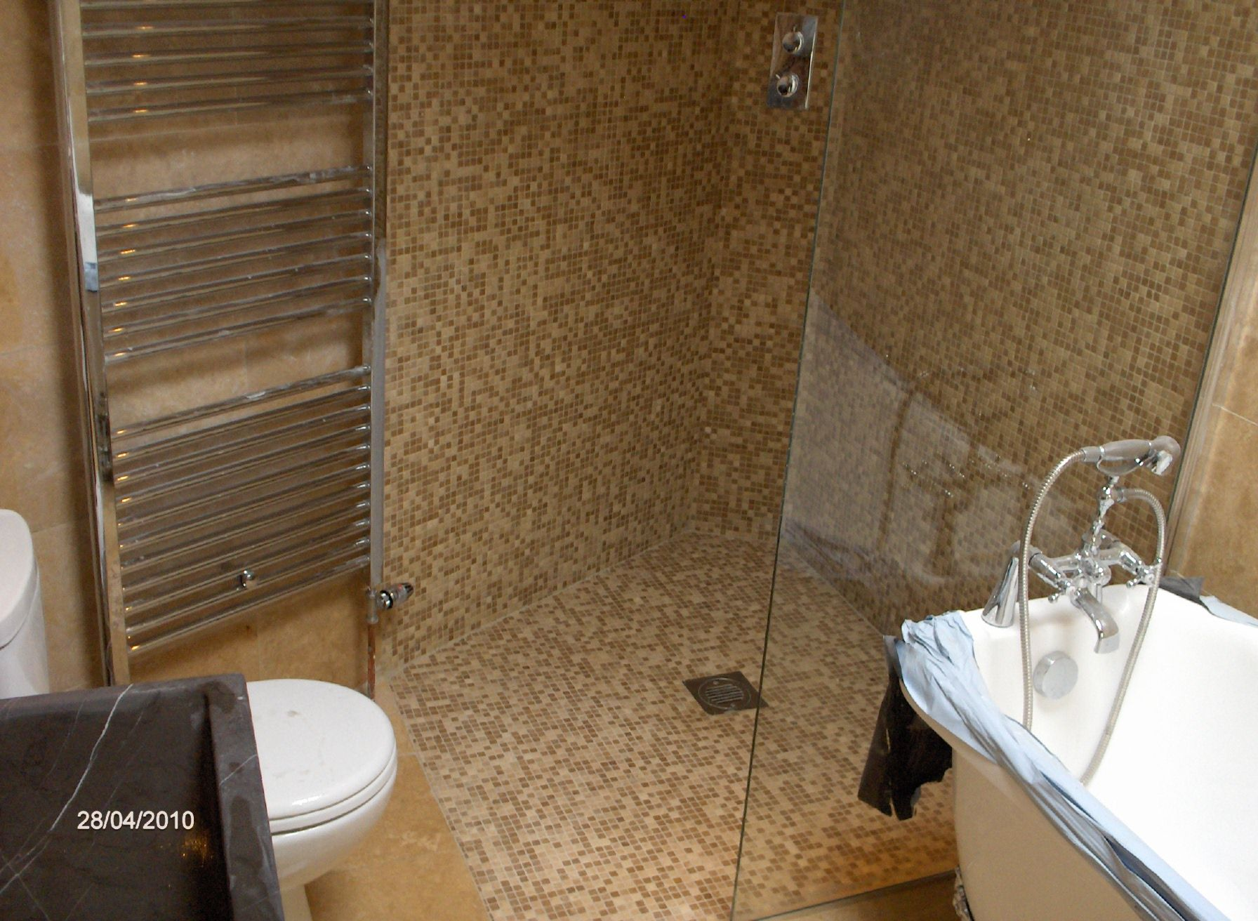 Another small wet room home pinterest small wet room wet the bathroom wet room floor has a drain and what looks like a bath but doublecrazyfo Image collections