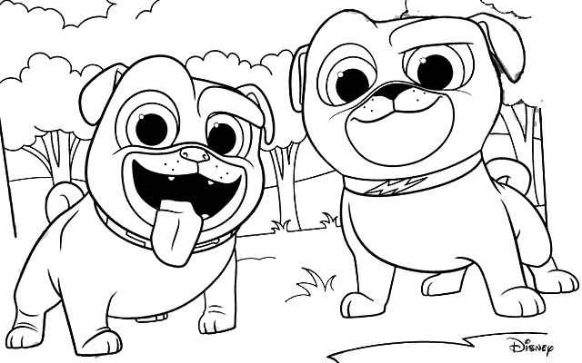 Puppy Dog Pals Coloring Pages - coloring.rocks! | Dog ...