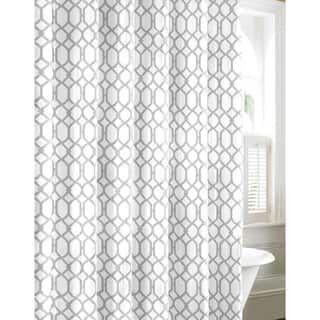 Tommy Bahama Shoretown Trellis Grey Cotton Shower Curtain Gray Shower Curtains Cotton Shower Curtain Bathroom Shower Curtains