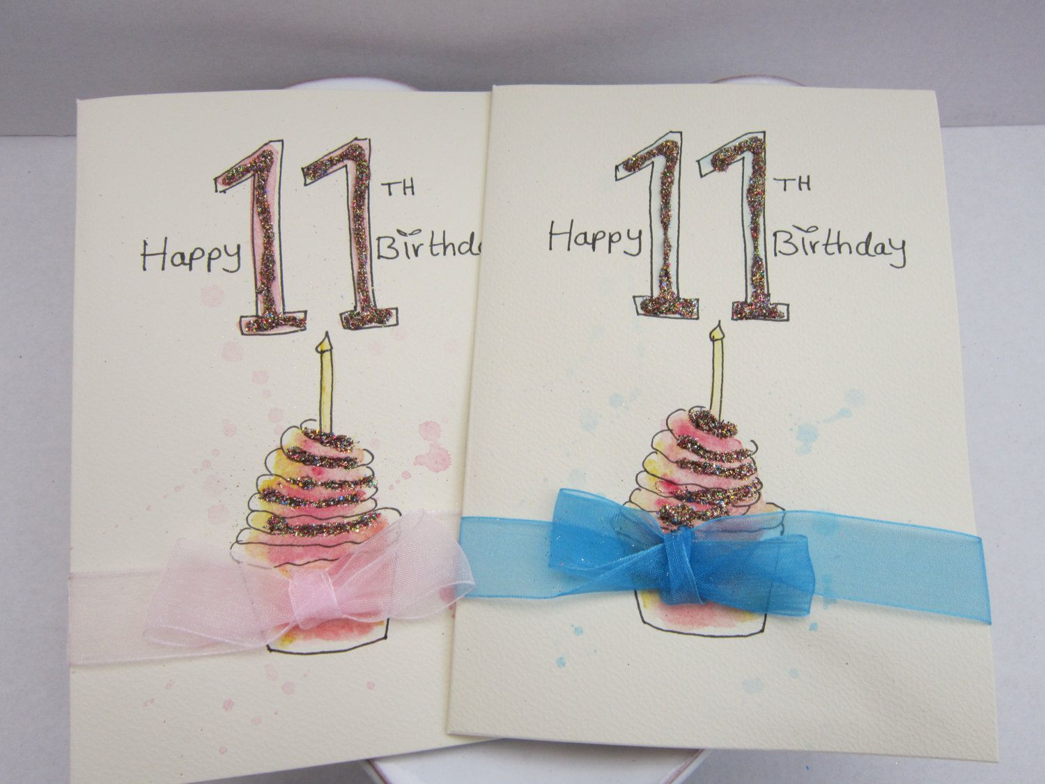 9th Birthday Card Watercolour Card Birthday Cards Personalise
