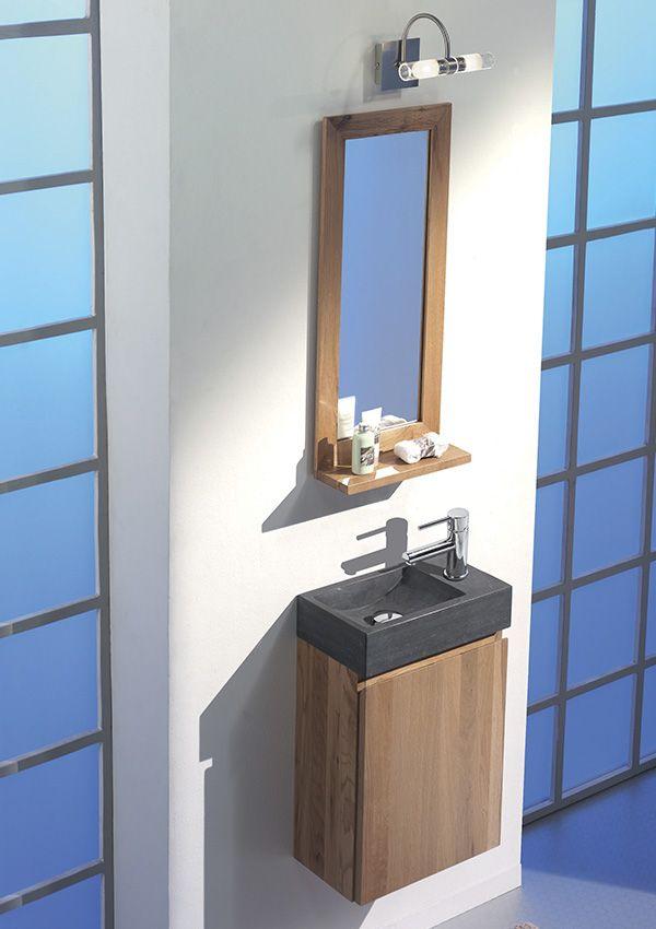 Meuble Salle De Bains En Bois Massif Avec Vasque Simple A Prix Tout Doux Decoration Petite Salle De Bain Lave Main Meuble Salle De Bain