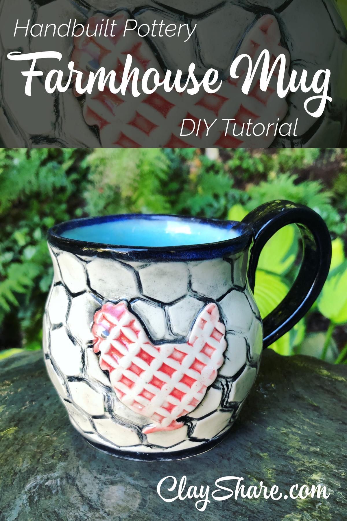 Farmhouse Mug | Coffee mugs | Farmhouse mugs, Hand built pottery, Mugs