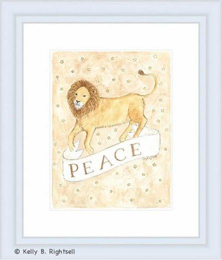 Peace Framed Lithograph #rosenberryrooms