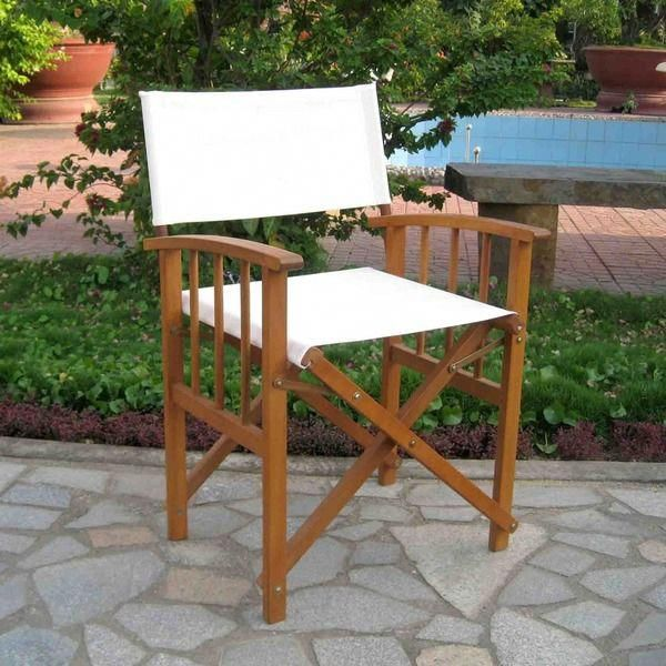 Overstock - International Caravan Acacia Mission-style Directors Chair (Set  of 2) - $115 #missionchair - Overstock - International Caravan Acacia Mission-style Directors