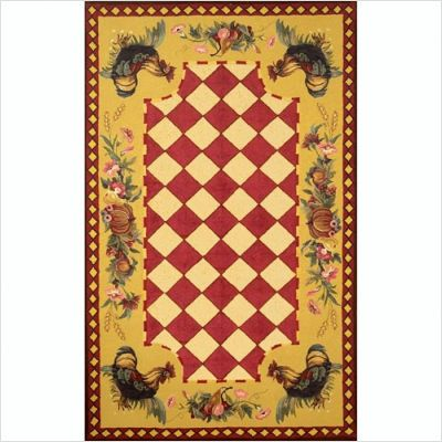 Tuscany rooster rug - love the red and yellow. Love this one. Great ...