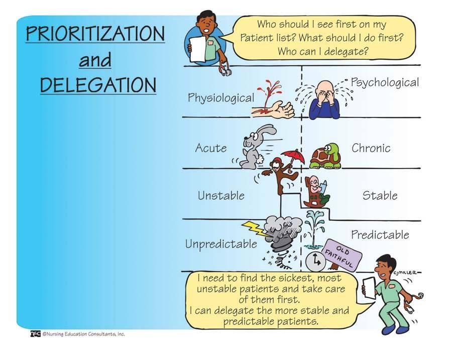 Nursing: Prioritization & Delegation.   RN School   Pinterest ...