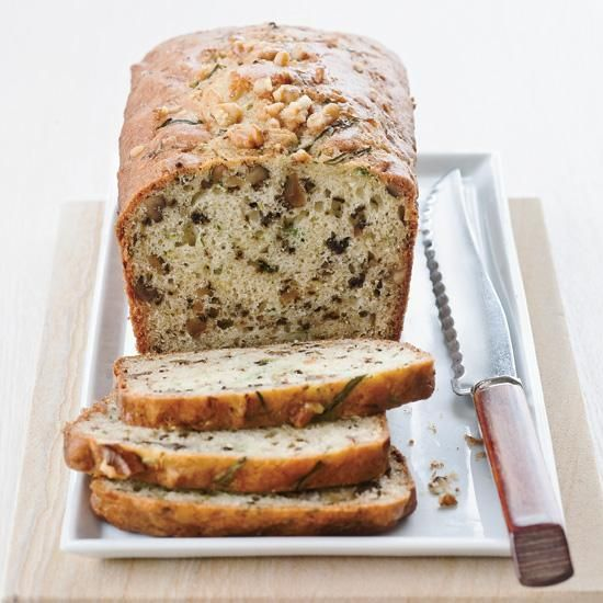 Yogurt-Zucchini Bread with Walnuts | This moist, nutty bread is a terrific way to use up late-summer zucchini. The walnuts in the bread are super-heart-healthy, and the yogurt adds moisture without any fat.