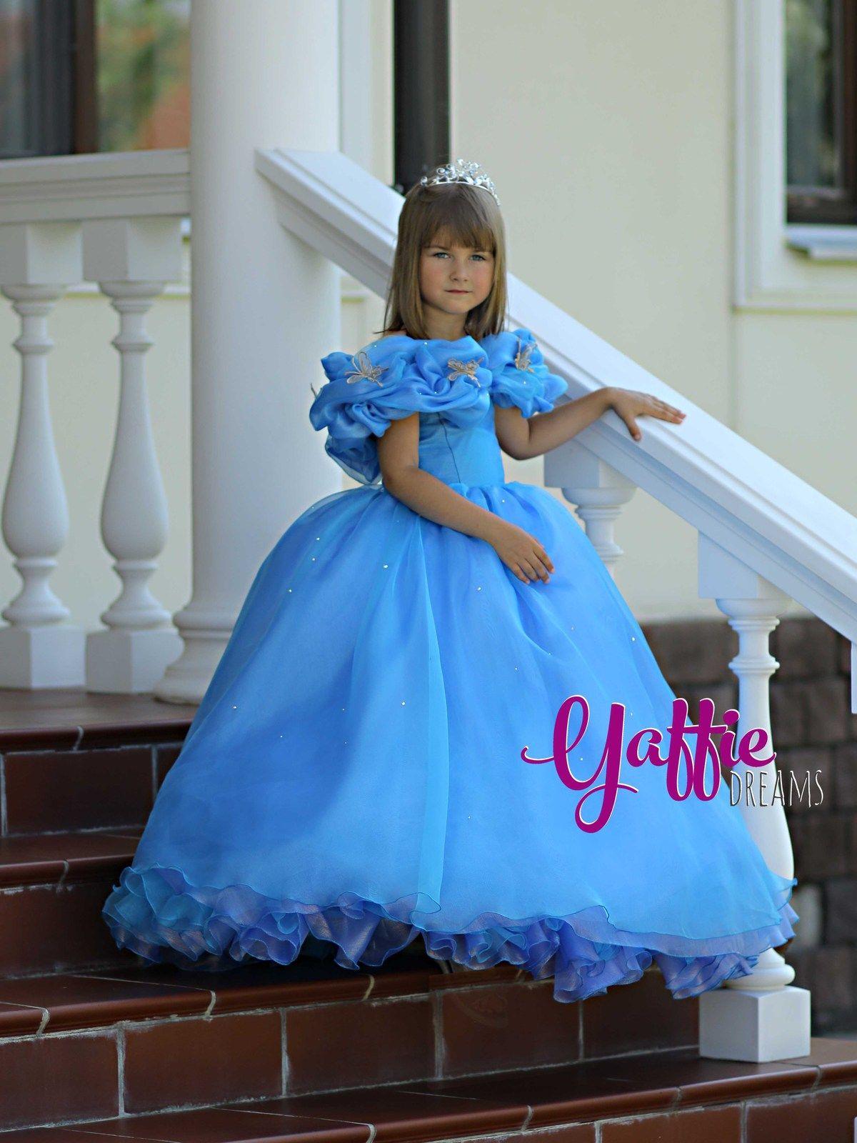 Cinderella 2015 movie dress Disney princess ball gown Halloween ...