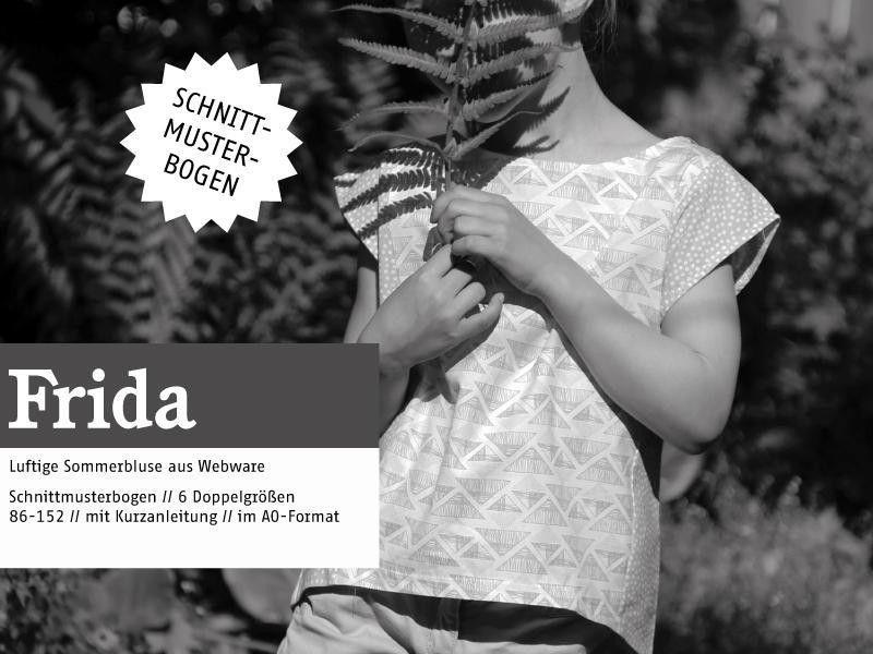 Kindermode - FRIDA - luftige Mädchenbluse, Schnittmuster - ein Designerstück von…