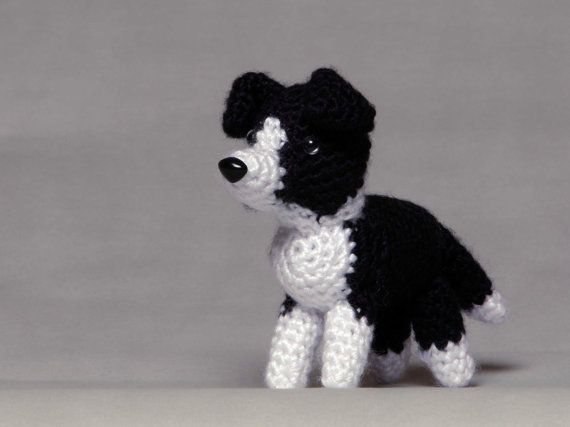Knitting Pattern For Border Collie : Border Collie by HoneyBunnyShoppe on Etsy, USD15.00, crochet, amigurumi, pets ...