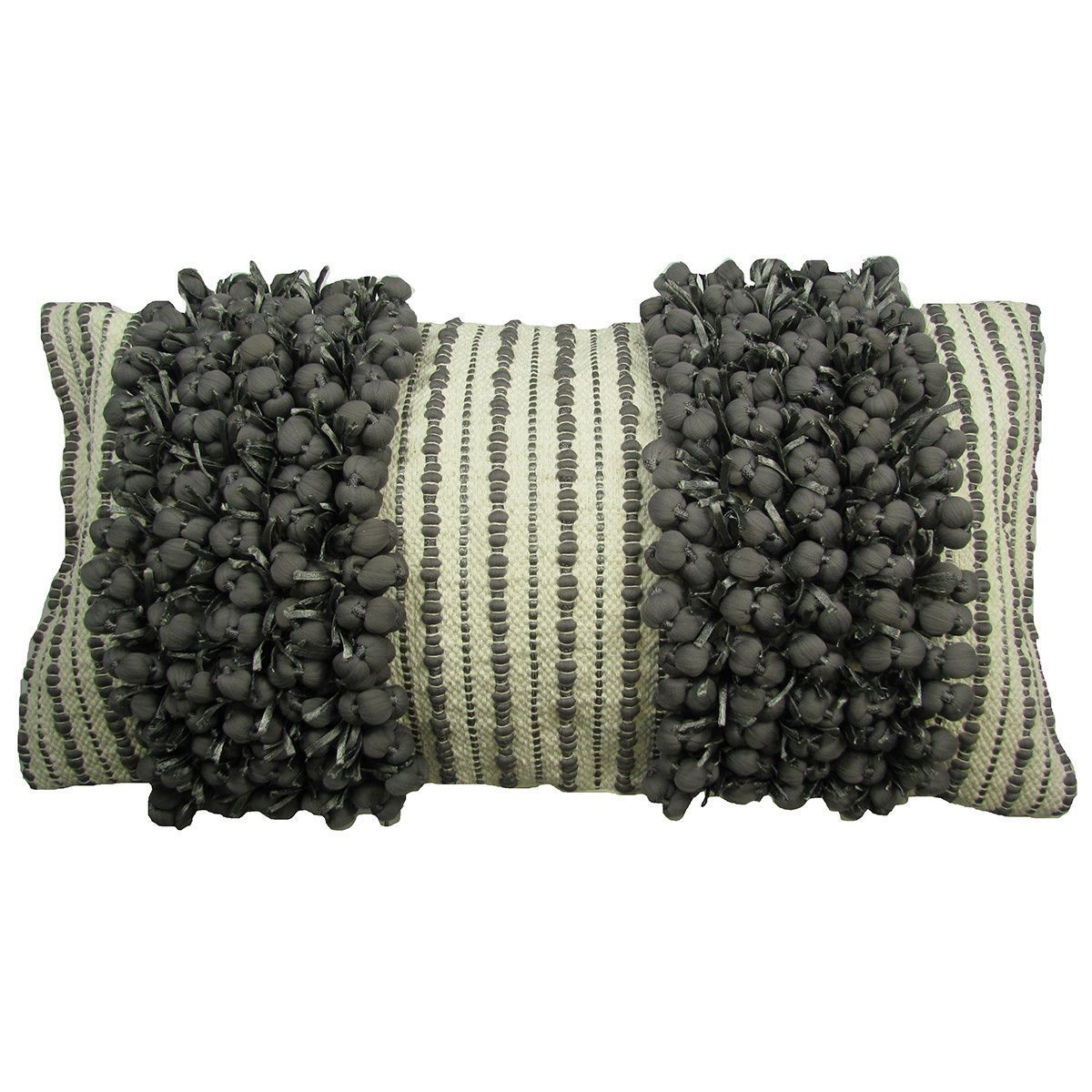 Hand Woven 'Funberry' Two-tone Twin Throw Pillow